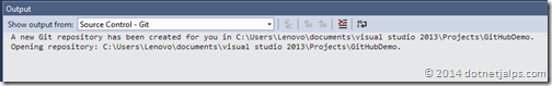 git-repository-created-visual-studio-2013