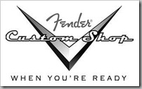 Fender Custom Shop LOGO-Black-n-White