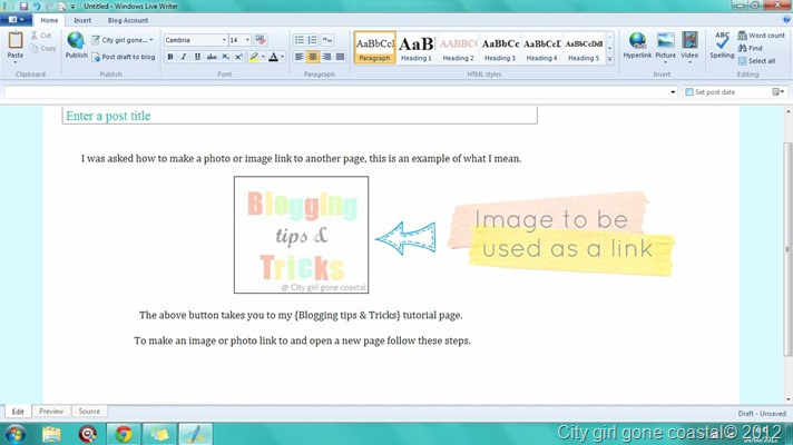 how to add web link to inserted photo in email
