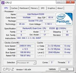 Tampilan CPU-Z