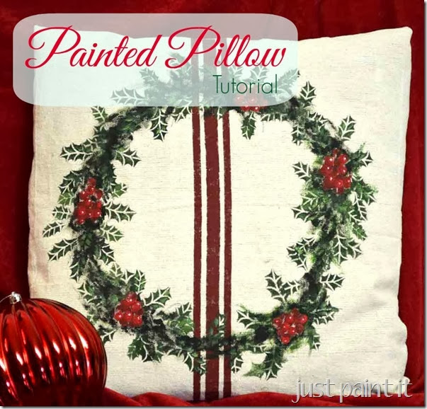 Painted-Holly-Pillow-Tutorial