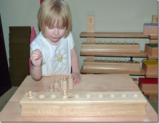 Montessori Knobbed Cylinders at Homeschool Mo 2
