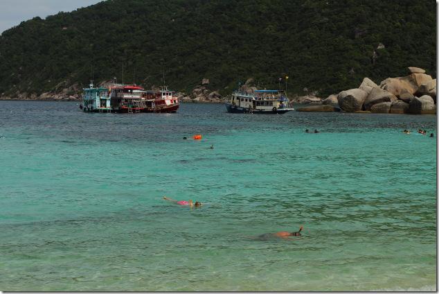 Snorkeling in the waters around Koh Nang Yuan