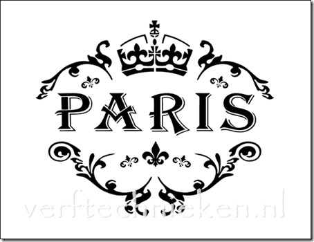 Shabby Chic sjabloon Paris Crown