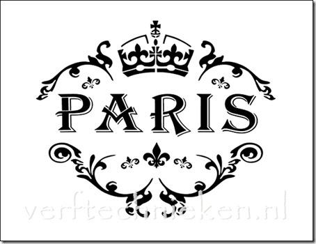 Shabby Chic sjabloon Paris Crown