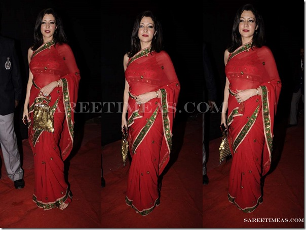 Aditi_Govitrikar_Red_Saree