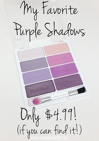 My favorite purple shadows are all in the Wet n Wild Flirting at the After Party 8 pan palette!