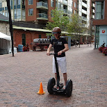 segway tour throught the Distillery district in Toronto, Ontario, Canada
