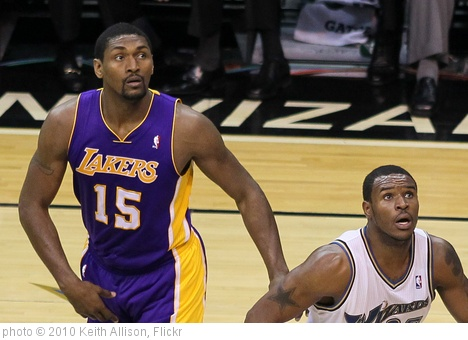 'Ron Artest and Trevor Booker' photo (c) 2010, Keith Allison - license: http://creativecommons.org/licenses/by-sa/2.0/
