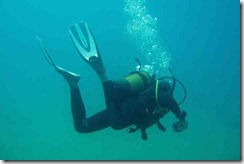 Ben diving