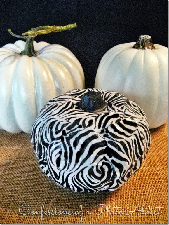 CONFESSIONS OF A PLATE ADDICT Zebra Duct Tape Pumpkin