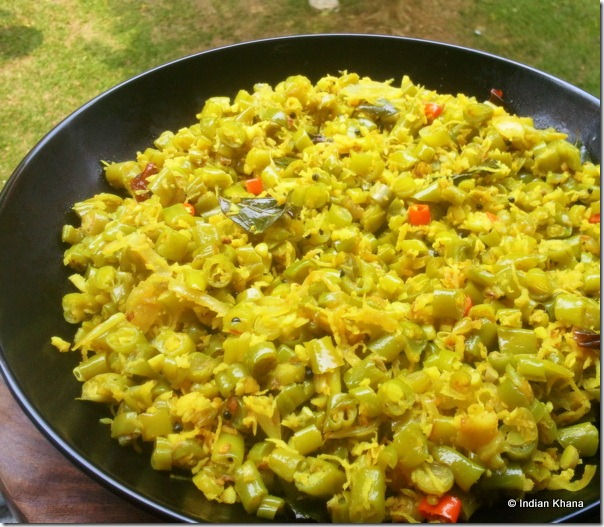 Easy Beans poriyal thoran stir fry recipe onam sadya recipe