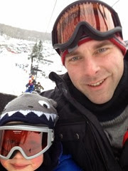 Marshall and Warner on chairlift