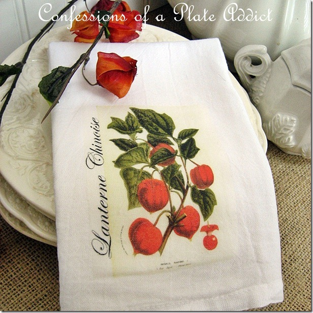 Chinese Lantern Tea Towel square