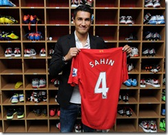 (THE SUN OUT, THE SUN ON SUNDAY OUT) Real Madrid's Nuri Sahin signs a season-long loan with Liverpool FC at Melwood training Ground on August 25, 2012 in Liverpool, England.