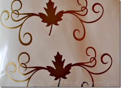 Gold Vinyl Maple Leaf Border