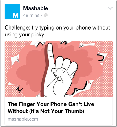 Mashable the finger your phone can't live without