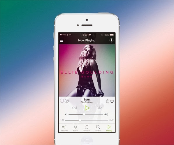 19 increíbles interfaces de aplicaciones móviles hechas para iOS 7 3