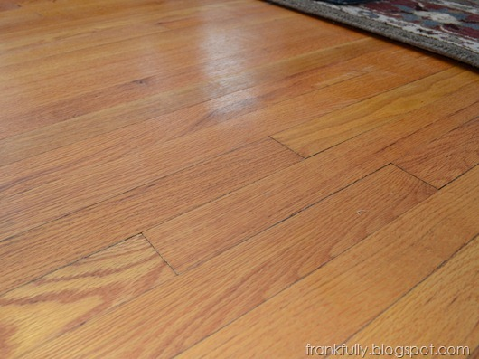 Our hardwood floors, finished with Waterlox
