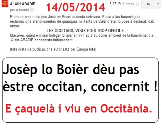 José Bové es pas occitan