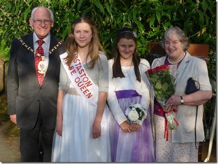 Diabetes UK Garden Party - l-r - George Walton - Daisy Wybrow - Emma Bishop - Veronica Walton