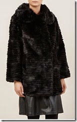 Kaliko Long Black Faux Fur Jacket