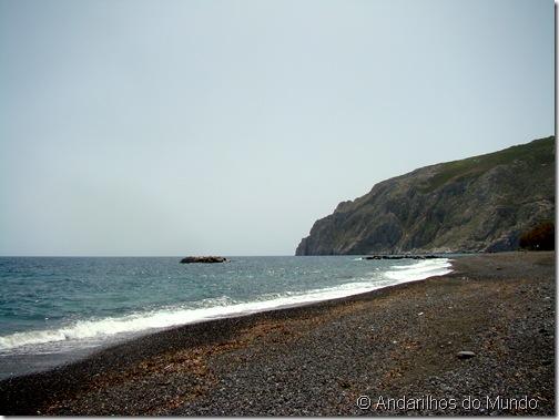 Kamari Beach Canto Direito Santorini Grécia