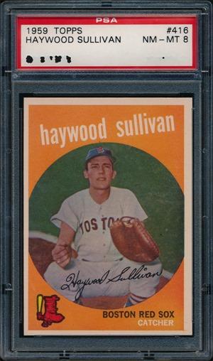 1959 Topps 416C Haywood Sullivan circle period front