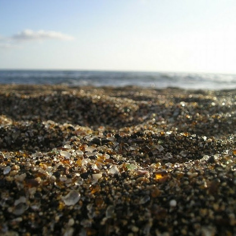 Glass Beach at Fort Bragg in California