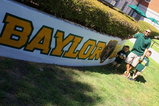 Nash's 1st day of School & Baylor Game 032