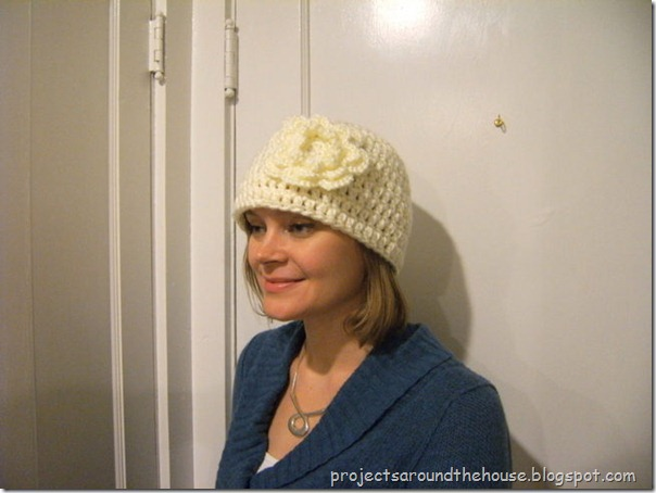 Adult Flower Crochet Hat Pattern
