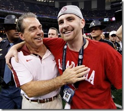 Nick Saban with son Nicholas