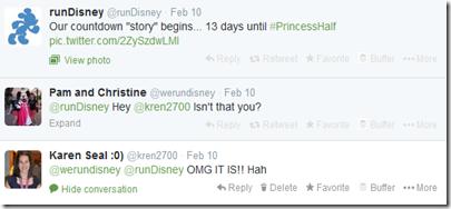 runDisney Princess Tweet 2