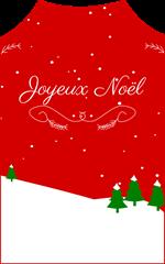 etiquette cadeaux joyeux noel rouge et blanc sapins