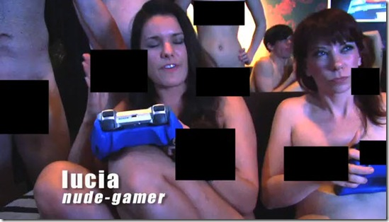 naked gaming party