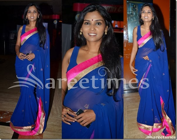 Blue_Georgetet_Saree
