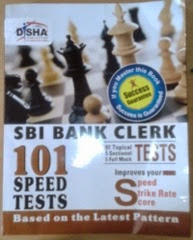 SBI speed test book review,disha publication 101 speed tests for sbi clerk exam,how to practice for sbi clerk exam 2014