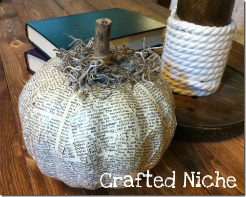 friday feature--decoupaged pumpkin from crafted niche blog