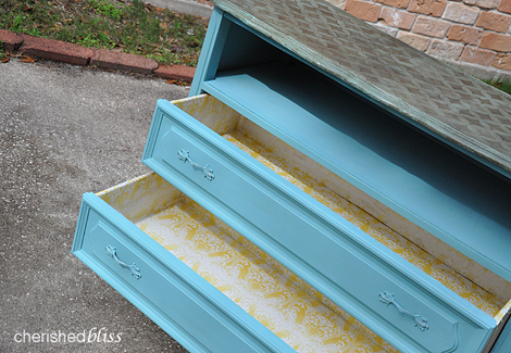 Fabric lined drawer 1.