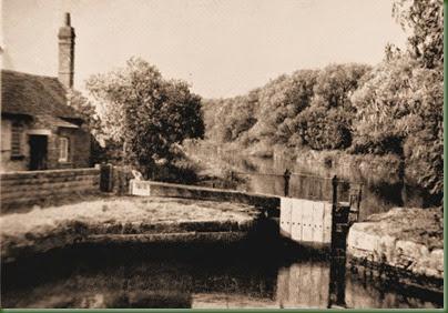 IMG_6356 Shipton Weir Lock sepia tone