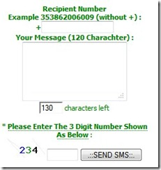 free sms wdgt