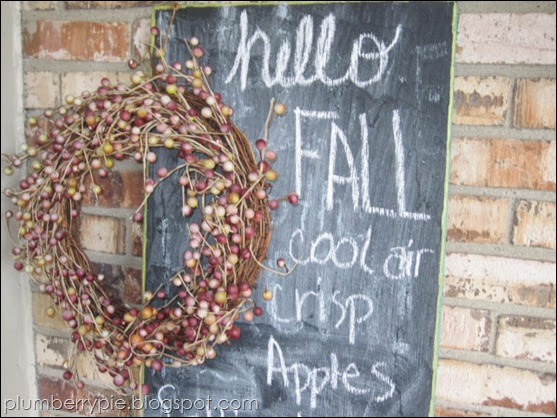 {plumberry pie} fall chalkboard change up