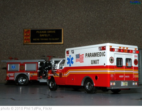 'FDMB Rescue Ambulance -1/64 Ford E-350 Diecast.' photo (c) 2010, Phil 1stPix - license: http://creativecommons.org/licenses/by-nd/2.0/