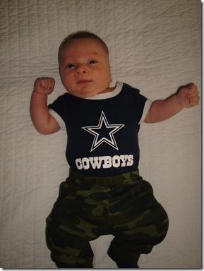 4.  Knox in cowboys gear