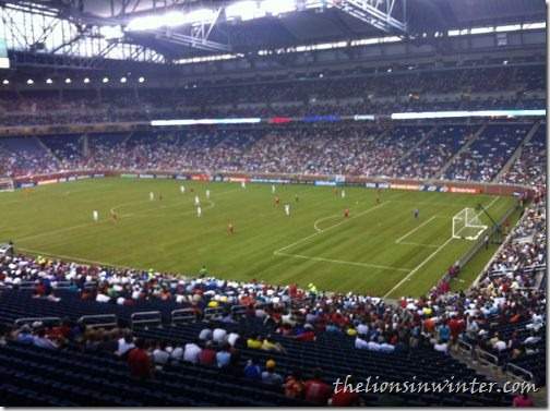 Crowd at Ford Field in Detroit for the USMNT vs. Canada Gold Cup match
