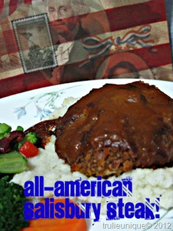 salisbury steak, bulk cooking, american meals, fried hamburgers, burgers and gravy, simple steaks.