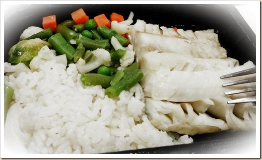 Рыба и рис с овощами