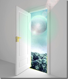 opening door to another planet
