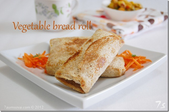 Vegetable bread roll