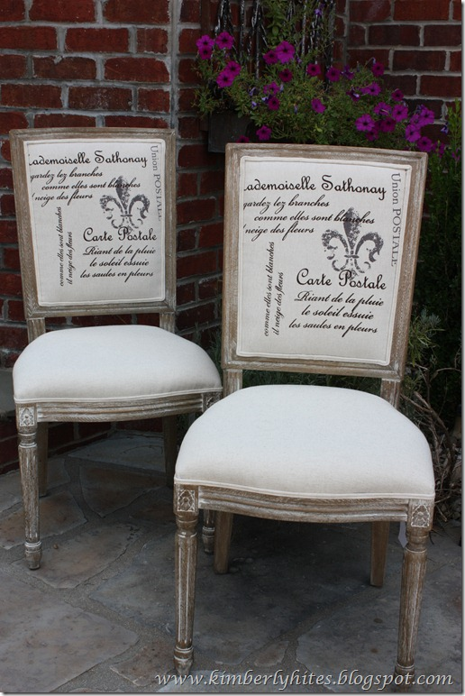 French Country Script Chairs ~ Kim hites french country antiques interiors style